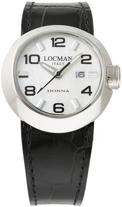 Locman (ロックマン) - LOCMAN ラウンドウォッチ デイト表示 取替ベルト付 ケース:ホワイト ベルト:ブラック、ホワイト、ピンク