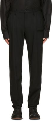 Yohji Yamamoto Black Wool Slim Trousers $730 thestylecure.com