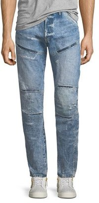 G-Star 5620 3D Tapered Rip & Repair Jean Shorts $190 thestylecure.com