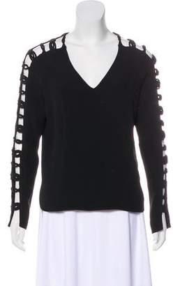 Nellie Partow Slit Sleeve Oversize Top