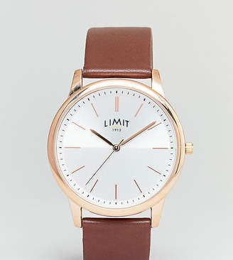 Limit Brown Faux Leather Watch Exclusive To ASOS