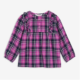 Joe Fresh Baby Girls' Plaid Tunic, Bright Purple (Size 3-6)