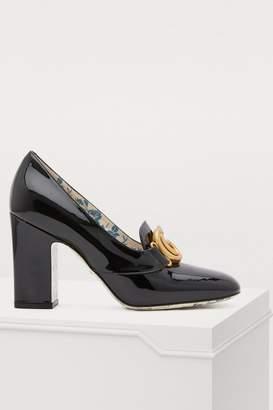 63055b1b9 Gucci Square Heel Pumps - ShopStyle