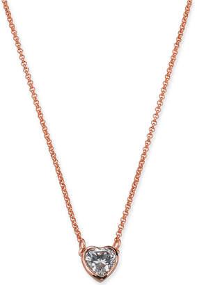 "Kate Spade Crystal Heart Pendant Necklace, 16"" + 3"" extender"