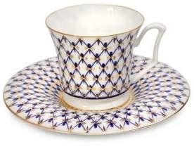 Imperial Porcelain Two-Piece Teacup & Saucer Set