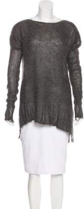 Ilaria Nistri Mohair & Silk Open Knit Sweater