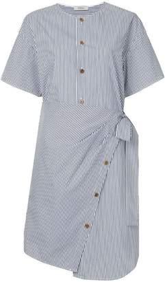 DAY Birger et Mikkelsen Goen.J asymmetric striped wrap dress