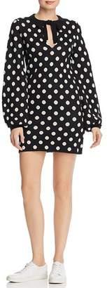 Freya leRumi Polka-Dot Sweater Dress