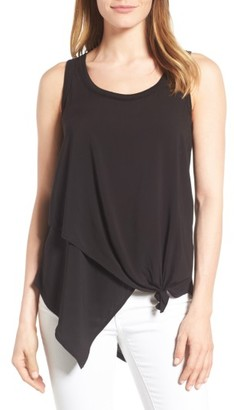 Women's Wit & Wisdom Knotted Asymmetrical Tank $48 thestylecure.com