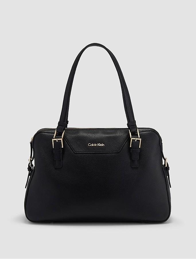 Calvin KleinPebble Leather Satchel