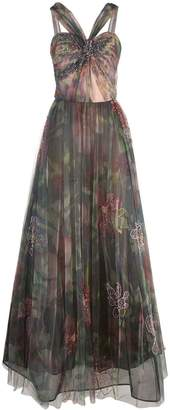 PatBO floral tulle dress