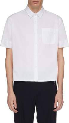 Wales Bonner Contrast stripe side split short sleeve shirt