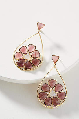 Anthropologie Blooming Mosaic Drop Earrings