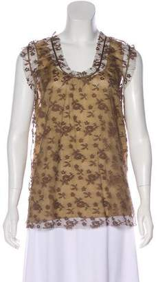 Marc Jacobs Sleeveless Lace Top