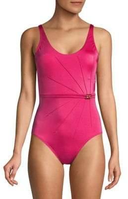 Calvin Klein Mio Belted Starburst One-Piece Swimsuit