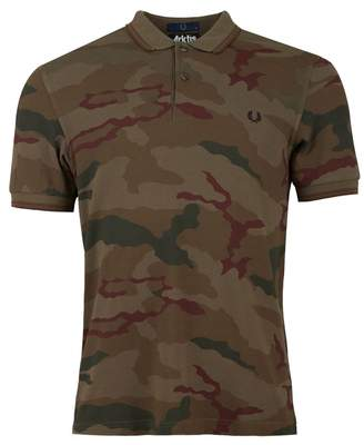 bfb1219c Fred Perry Authentics Utility Camo Polo Shirt Colour: Iris, Size: SMAL