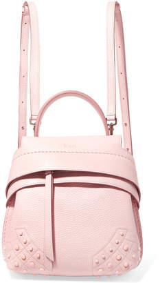 Tod's Wave Mini Textured-leather Backpack - Blush