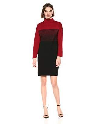 Anne Klein Women's Mock Neck Long Sleeve Sweater Dress
