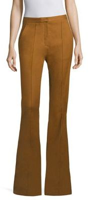 Diane von Furstenberg Pleated Flared Pants $298 thestylecure.com