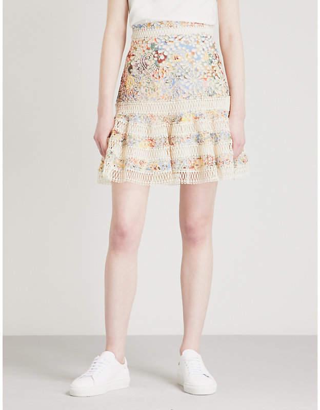 Lovelorn Flutter broderie anglaise cotton mini skirt