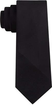DKNY Men's Textured Angle Silk Slim Tie