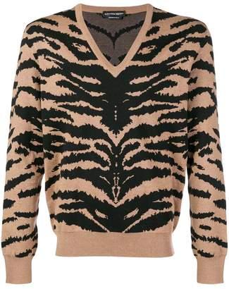 Alexander McQueen animal print jumper
