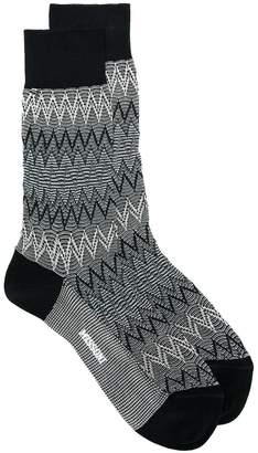 Missoni zig zag knit socks