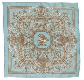 Hermes Les Tuileries Silk Pocket Square