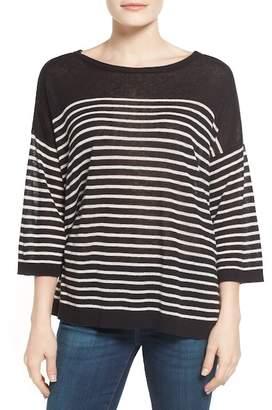 NYDJ Serra Stripe Linen Blend Sweater (Petite)