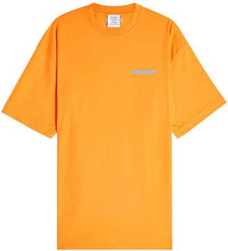 Vetements Printed Cotton T-Shirt