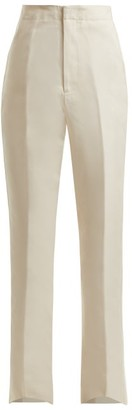 Colville - High Waisted Tailored Trousers - Womens - Ivory