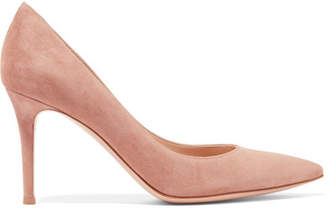 Gianvito Rossi 85 Suede Pumps - Taupe