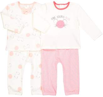 La Redoute COLLECTIONS Pack of 2 Printed Sleepsuits, Birth-3 Years