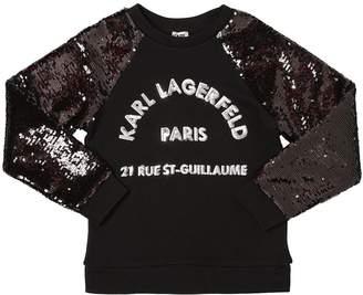 Karl Lagerfeld Sequined Cotton Sweatshirt