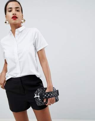 Asos DESIGN boxy short sleeve shirt
