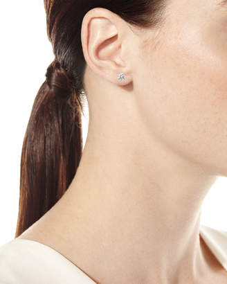 Neiman Marcus Diamonds 18k White Gold Round Diamond Solitaire Stud Earrings, 1.0tcw