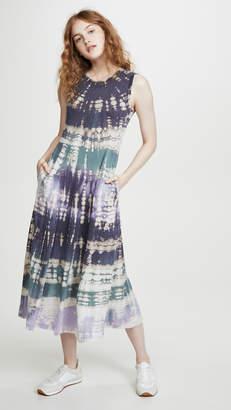 Raquel Allegra Big Sweep Tie Dye Dress