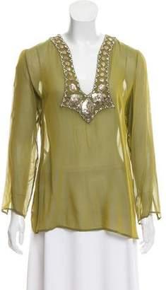 Versace Silk Embellished Tunic