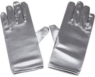 RUNHENG Women Wrist Length Adult Size Stretchy Satin Gloves ...