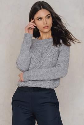 Rut & Circle Rut&Circle Elsa Cable Knit Lt Greymelange