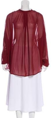 Jean Paul Gaultier Silk Long Sleeve Blouse