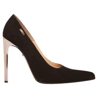 Gianmarco Lorenzi Black Suede Heels