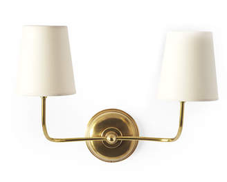 Serena & Lily Everett Two-Arm Sconce - Antiqued Brass