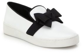 Michael Kors Collection Val Bow Patent Leather Skate Sneakers $275 thestylecure.com