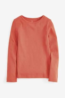 Next Girls Rust Long Sleeve Rib T-Shirt (3-16yrs) - Brown