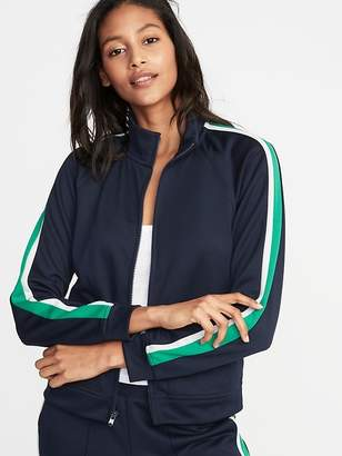 Old Navy Sleeve-Stripe Track Jacket for Women