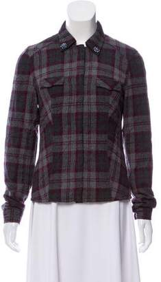 Authier Embellished Plaid Jacket
