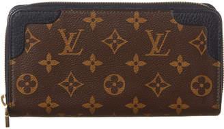 Louis Vuitton Black Monogram Multicolore Canvas Retiro Zippy Wallet