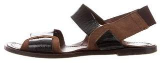 Marni Leather Flat Sandals
