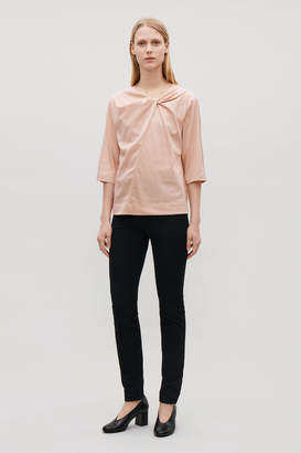 Cos KNOT-DETAILED COTTON TOP